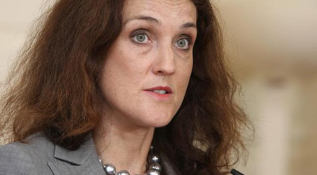 Northern Ireland Secretary Theresa Villiers is meeting key Irish-American figures during a four-day visit to the US