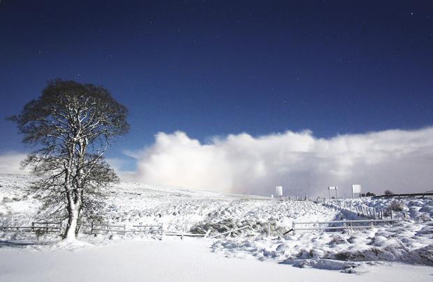 The amazing shot of snow on Glenshane Pass captured by Martin McKenna