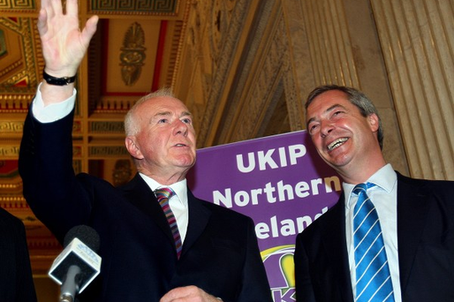 UKIP's David McNarry pictured with party leader Nigel Farage