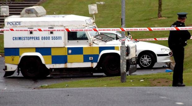 A van driver has been threatened and told to deliver a package to a police station in the Creggan area of Londonderry