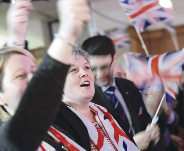 Supporters of the DUP at the annual party conference at La Mon House
