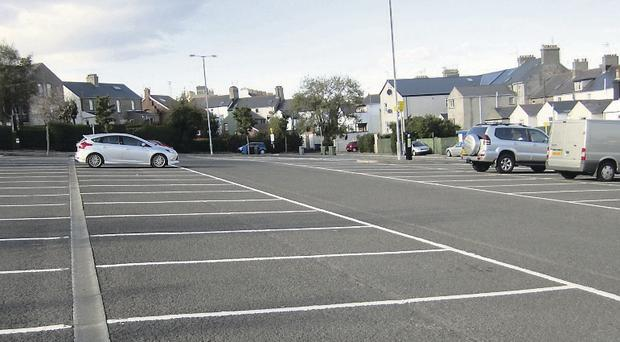 Dufferin Avenue car park in Bangor has been underused since parking charges were introduced