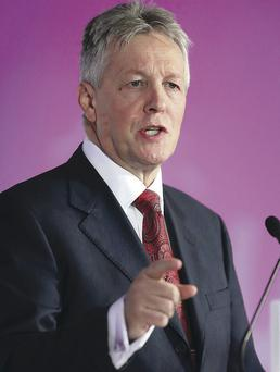 Peter Robinson speaking at the DUP conference last week