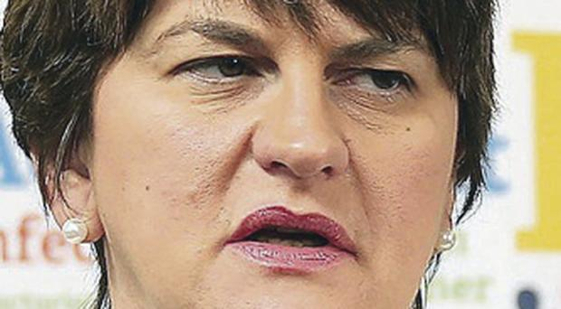 Enterprise Minister Arlene Foster condemned the alert at the north-south electricity interconnector