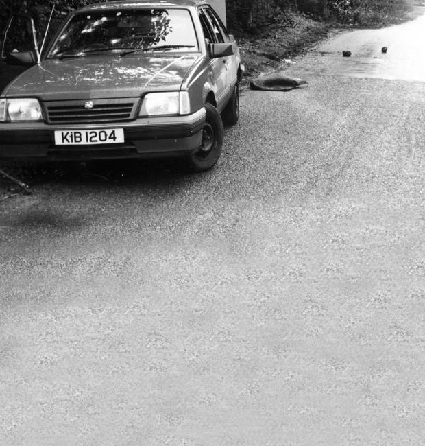 The scene of the IRA ambush in which Chief Superintendent Harry Breen and Superintendent Bob Buchanan were killed in March 1989