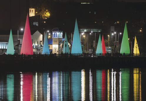 Some of the light installations around Londonderry