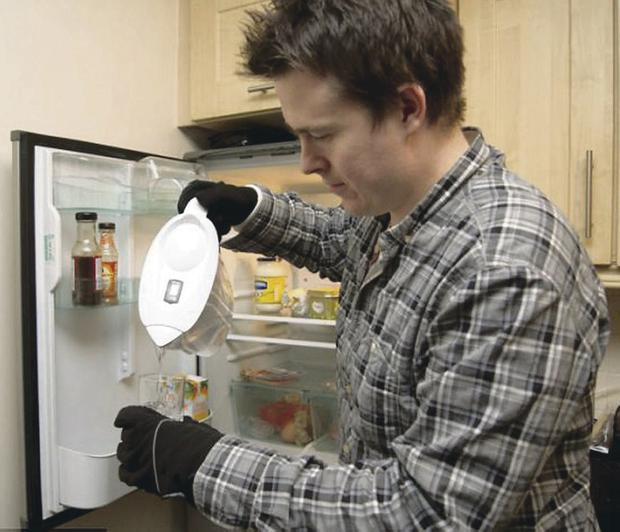 Bernard has to wear gloves even to use the fridge