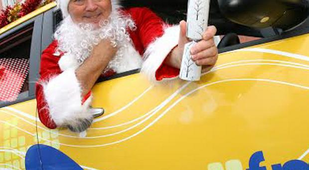 Radio presenter Jerry Lang does his Santa impersonation ahead of Santa Saturday in Newtownards