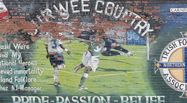 Fading Memories. A mural of David Healy at Carnforth Street, east Belfast