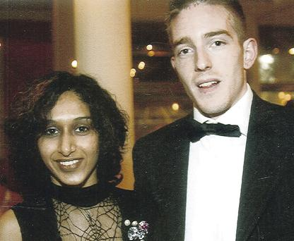 Tragedy: Dhara and Michael Kivlehan. The family's legal team praised the care given to Mrs Kivlehan in Belfast
