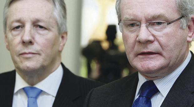 Peter Robinson and Martin McGuinness met with Environment Minister Mark H Durkan