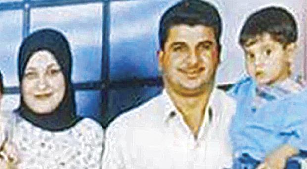 Iraqi civilian Baha Mousa with his wife and two children. His death at the hands of British soldiers while in custody sparked an inquiry at which those soldiers who gave evidence were granted immunity from disciplinary action