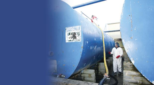 A Customs official helps to decommission the sophisticated fuel laundering plant near Crossmaglen