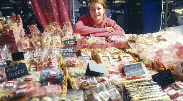 Emily Townsley at Sandra's Candy Factory as St Georges Market