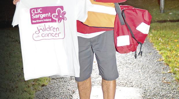 Lurgan postman Dan McAlinden is going bare-legged all winter in aid of CLIC Sargent cancer charity
