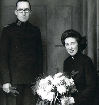 Willie and Nellie Shanks on their wedding day