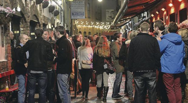 Busy pubs in Belfast's Cathedral Quarter