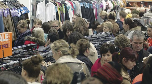 A shop in Derry during last year's Boxing Day sales