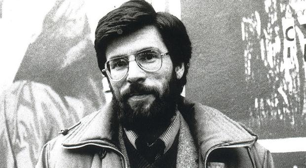 Sinn Fein leader Gerry Adams in March 1984