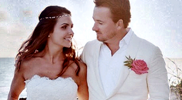 Graeme McDowell on his wedding day with his bride Kristin Stape in the Bahamas