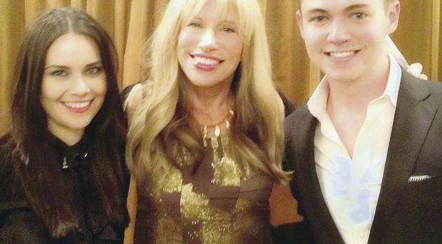 Carly Simon with Mairead Carlin and Damian McGinty