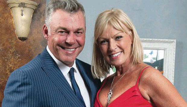 Darren Clarke and wife Alison Campbell
