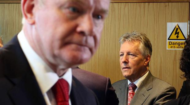 Deputy First Minister Martin McGuinness (left) has urged unionist parties to declare their stance on the Haass proposals.