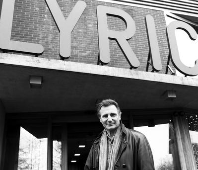 Liam Neeson at the Lyric Theatre in Belfast
