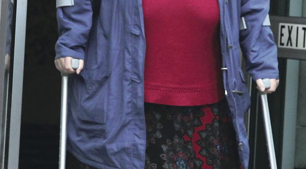Wendy McKay leaves Belfast Laganside Courts