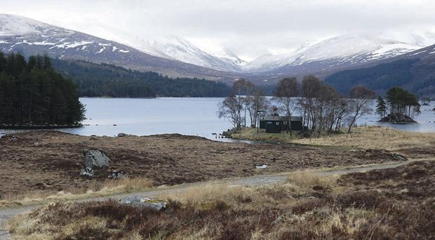 The hills around Loch Ossian where police found the body of rambler Michael O'Grady