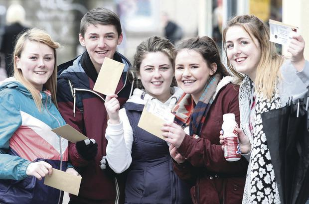 People queueing outside DV8 Ticketmaster to get tickets to see DJ Hardwell. Jamie Lee Cunningham, Terry McGinley, Naomi McComb, Orlagh Mullon and Lauren McAree