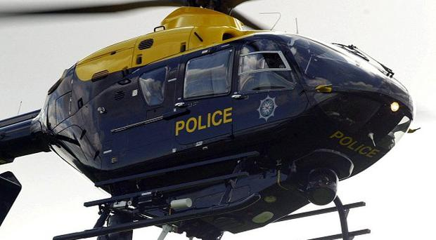 The PSNI helicopter