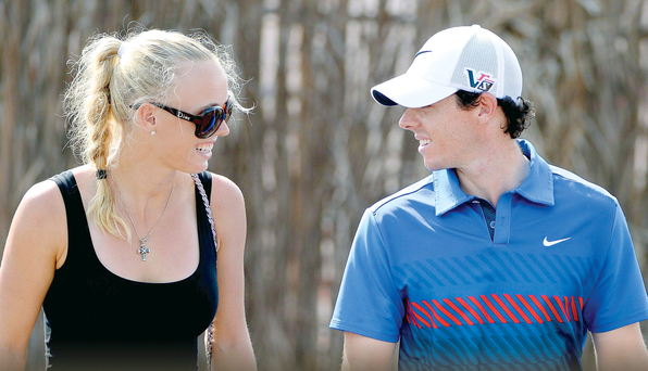Rory McIlroy and Caroline Wozniacki got engaged in Sydney on New Year's Eve