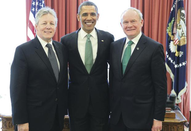 Peter Robinson and Martin McGuinness may meet President Obama again this March