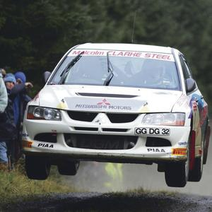 Rally driver Neil McCance in action