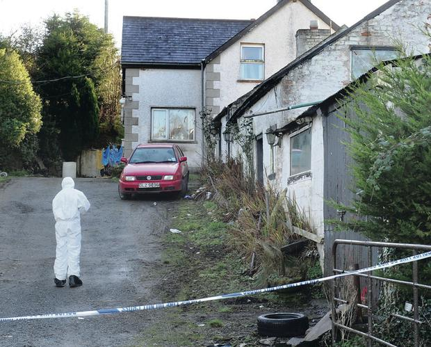 Scene of the murder of Philip Strickland