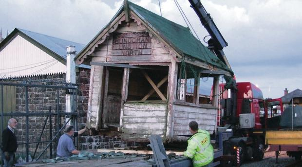 Full steam ahead: Bundoran Junction signal cabin is moved