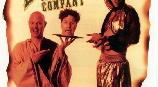 The Reduced Shakespeare Company's production of a play about the Bible has been cancelled in Newtownabbey amid a blasphemy row