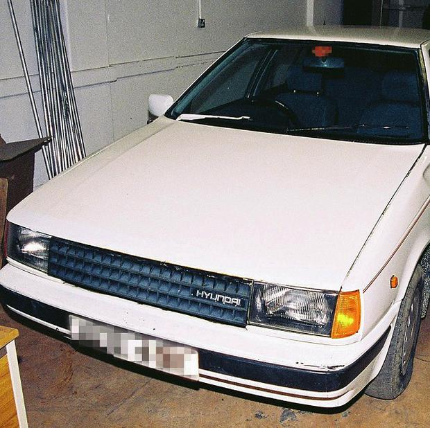 Police issued this photo of a white Hyundai Pony, similar to the one used by the killers (PSNI/PA)