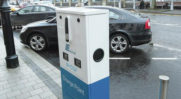The new electric car charging point in Limavady's Catherine Street