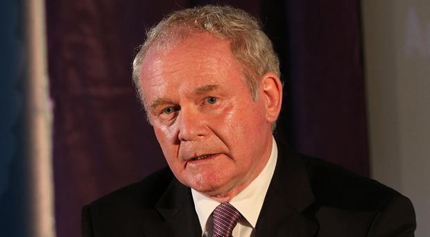 Deputy First Minister Martin McGuinness says work on a training college for the police, fire and prison services in Desertcreat, Co Tyrone, has been delayed until June