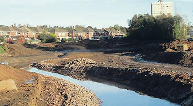 Orangefield Park is about to be transformed with work to divert the Knock River along a new channel