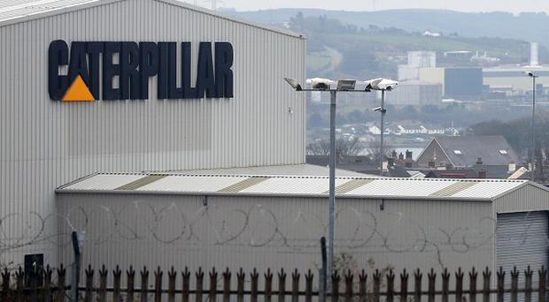 The Caterpillar factory at Larne in Co Antrim, Northern Ireland (AP)