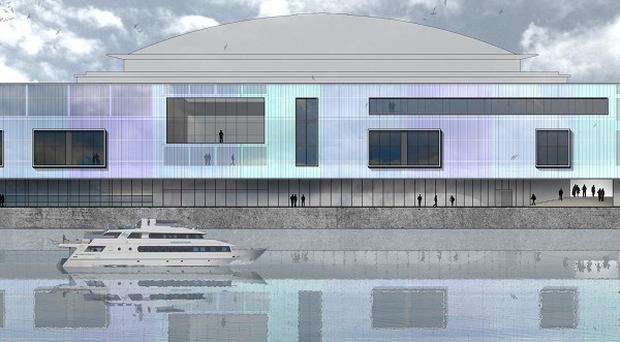 An impression of what the proposed £29.5 million plan to extend Belfast's Waterfront Hall could look like