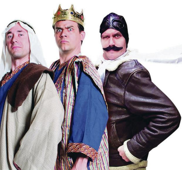 The cast of the Reduced Shakespeare Company's play