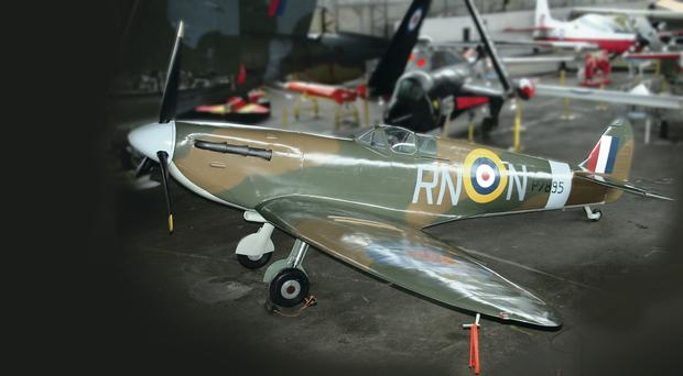 The stunning replica of the Spitfire bought by the Ulster Aviation Society