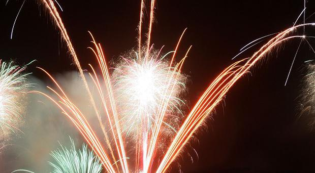 Fireworks over the River Foyle marked the start of the city of culture year