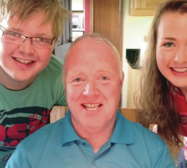 David Black with daughter Kyla and Son Kyle at David's 52nd Birthday August 2012