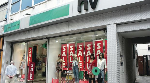 NV and Gino Casuals stores across Northern Ireland have closed with the loss of 150 jobs