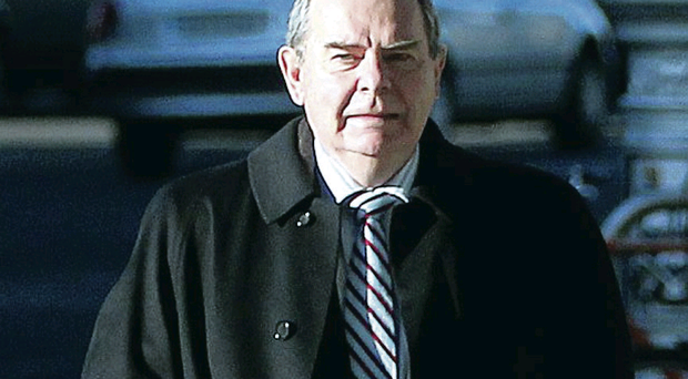 Sean Quinn arrives at court yesterday
